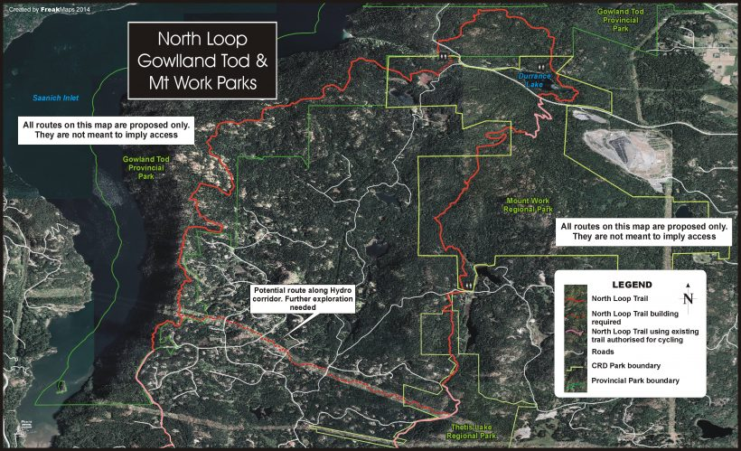 The North Loop and Gowlland Tod Provincial Park